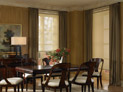 Solar shades and drapes for dining room windows