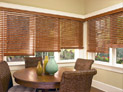 Wood blinds for dining room windows