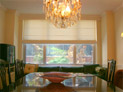 Flat roman shade with ribs for dining room in New York City